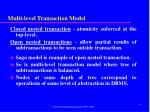 multi level transaction model