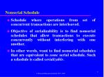 nonserial schedule