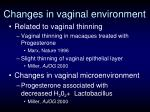 changes in vaginal environment
