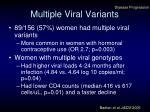 multiple viral variants
