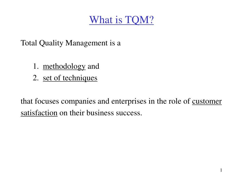 what is tqm l.