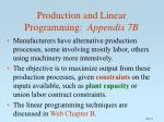 production and linear programming appendix 7b