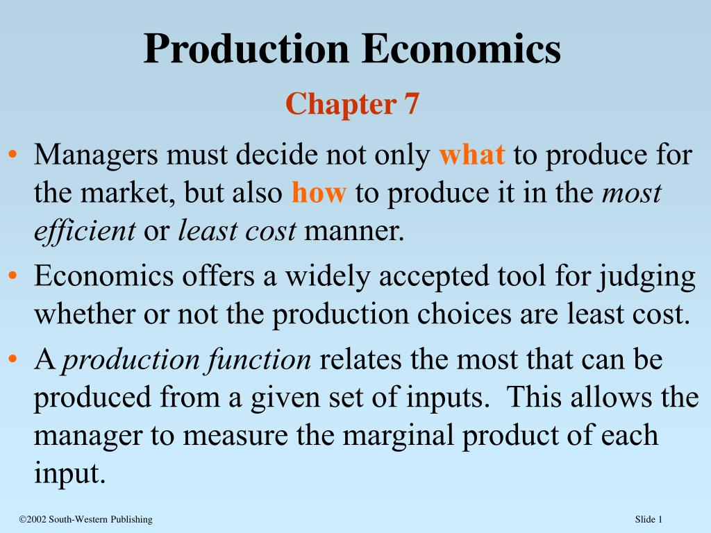 what to produce in economics