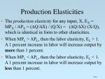 production elasticities