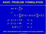 basic problem formulation