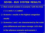 seven bus system results