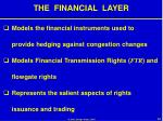 the financial layer