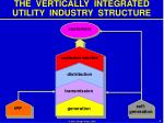 the vertically integrated utility industry structure