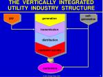 the vertically integrated utility industry structure5