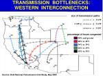 transmission bottlenecks western interconnection