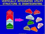 vertically integrated utility structure is disintegrating