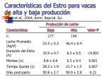 caracter sticas del estro para vacas de alta y baja producci n lopez et al 2004 anim reprod sci