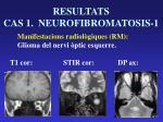 resultats cas 1 neurofibromatosis 16
