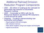 additional railroad emission reduction program components