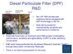 diesel particulate filter dpf r d