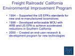 freight railroads california environmental improvement program