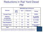 reductions in rail yard diesel pm