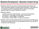 beamline development beamline contact group