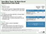 save more taxes do more good hypothetical case study