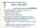 null values13