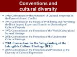 conventions and cultural diversity