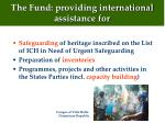 the fund providing international assistance for
