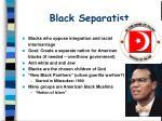 black separatist