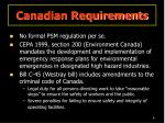 canadian requirements