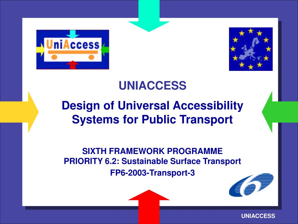 Ppt Uniaccess Design Of Universal Accessibility Systems For Public Transport Sixth Framework Programme Priority 6 2 Sustain Powerpoint Presentation Id 704221