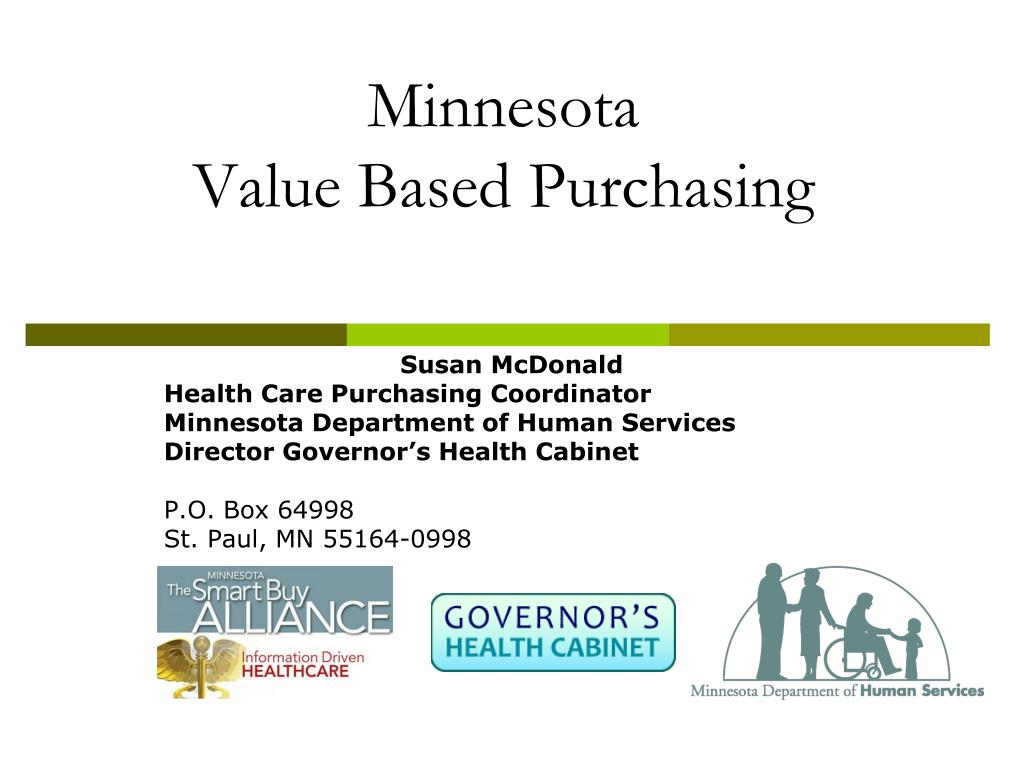 minnesota value based purchasing l.