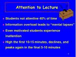 attention to lecture