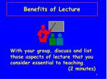 benefits of lecture