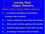 learning check organic chemistry