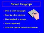 shared paragraph