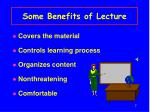 some benefits of lecture