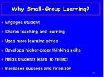 why small group learning