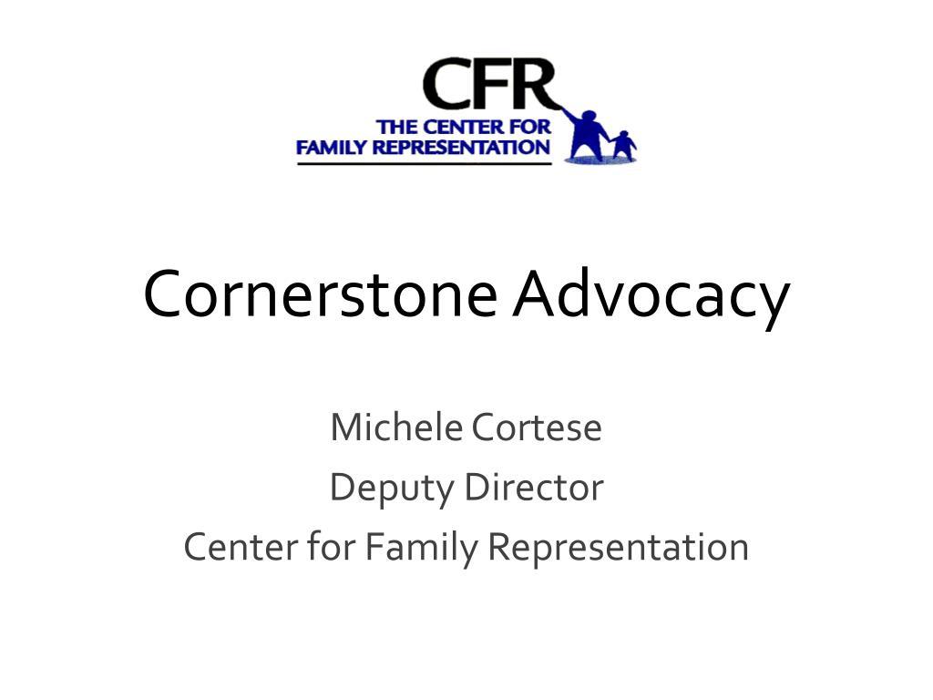 cornerstone advocacy l.