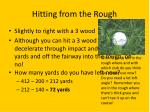 hitting from the rough