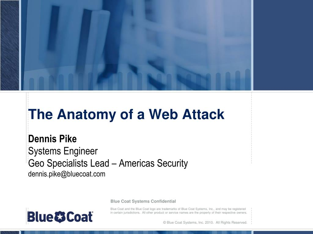 the anatomy of a web attack l.
