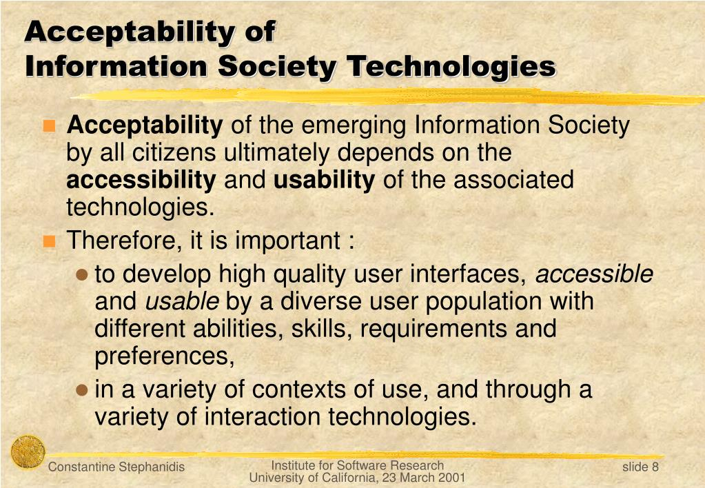 Acceptability of