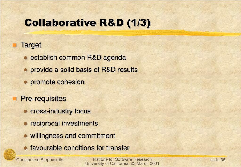 Collaborative R&D (1/3)