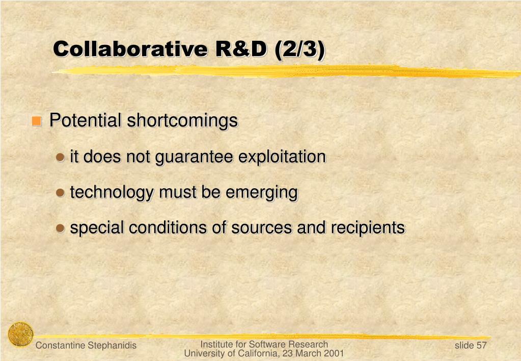 Collaborative R&D (2/3)