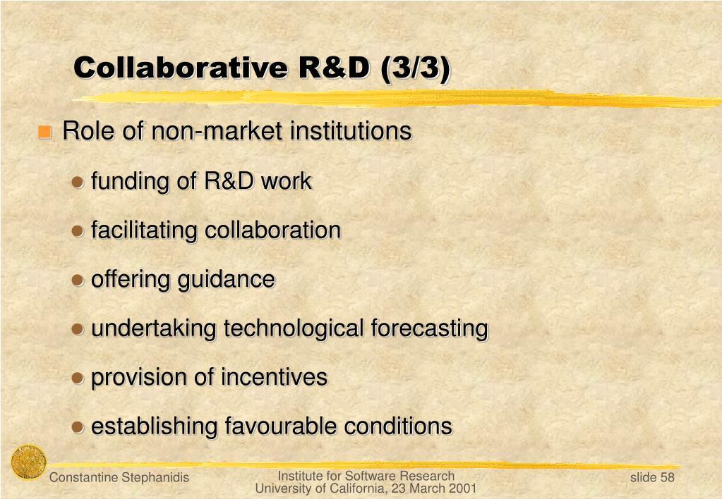 Collaborative R&D (3/3)