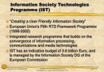 information society technologies programme ist