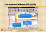 instances of adaptability 1 4