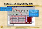 instances of adaptability 3 4
