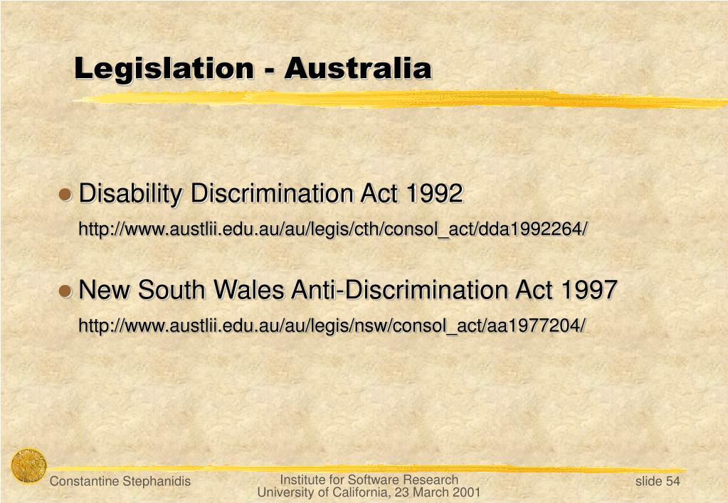 Legislation -