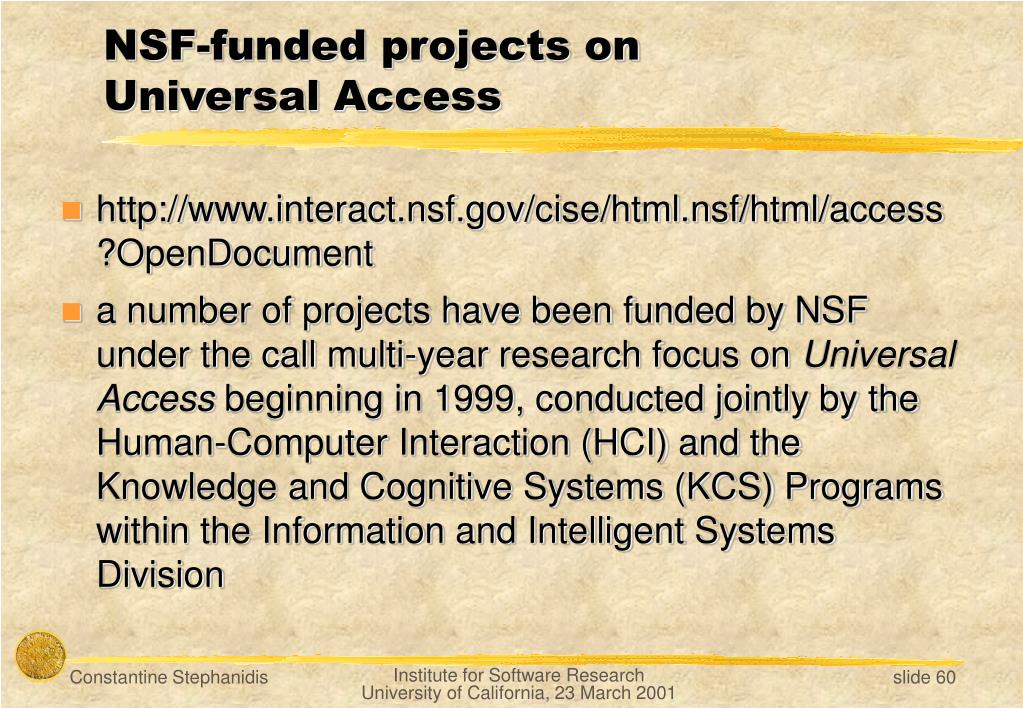 NSF-funded projects on