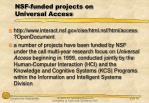 nsf funded projects on universal access