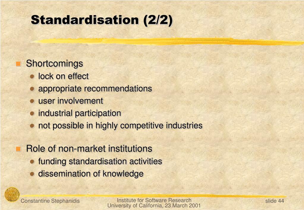 Standardisation (2/2)